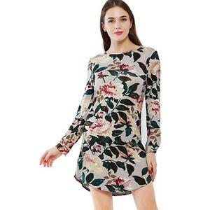 🌼Vintage Floral Casual Shirt Dress
